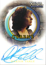 XENA BEAUTY AND BRAWN AUTOGRAPH CARD A27 CYRENE