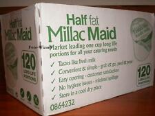 MILLAC MAID BOX of 120 LONG LIFE SKIMMED HALF FAT MILK PORTIONS CATERING SACHETS