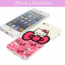 Cartoon Figure Hello Kitty Ribbon Hard Back Case Cover For iPhone 5 / 5S & Film