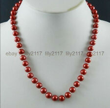 """AAA+2016 New Beautiful 8mm Red South Sea Shell Pearl Necklace 18"""""""
