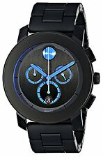 Movado Bold Black and Blue Chronograph Men's Watch 3600101