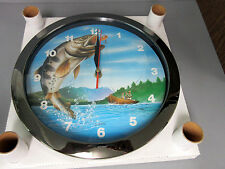 New 2 Guys in a Boat Fishing Quartz Wall Clock Bass Fish Fishes