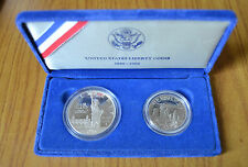 CONFEZIONE 2 MONETE STATI UNITI DOLLARO MEZZO DOLLARO 1986 argento LIBERTY COINS