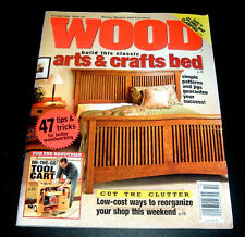 BHG ~ WOOD MAGAZINE OCT. 2004 ~CLASSIC ARTS & CRAFTS BED ~TOOL CART ~WOODWORKING