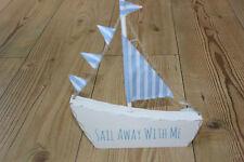 """Sass and belle, """"sail away with me"""" sail boat autoportante en bois plaque"""