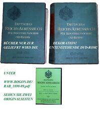 REICHS-ADRESSBUCH 1898-99. 1. JG. KPL MIT VOLLTEXTSUCHE