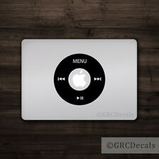 iPod Wheel - Mac Apple Logo Cover Laptop Vinyl Decal Sticker Macbook Music