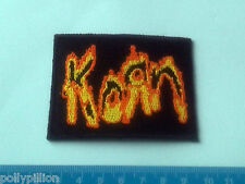 PUNK ROCK HEAVY METAL MUSIC SEW ON / IRON ON PATCH:- KORN (c) FIRE LETTERS LOGO