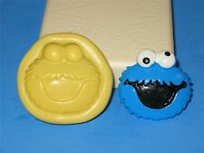 Sesame Street Cookie Monster 2D Push Mold Silicone A121 Cake Topper Fondant Wax