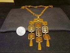 Gorgeous Massive Chunky Vintage signed TRIFARI Crown L'Orient Runway Necklace