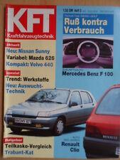 KFT KRAFTFAHRZEUGTECHNIK 3/1991 Renault Clio Mercedes Benz F 100 Volvo 440 Mazda