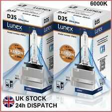 2 x D3S Genuine LUNEX XENON BULB REPLACEMENT FOR PHILIPS , GE OR OSRAM - 6000K