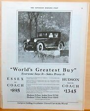 1925 magazine ad for Essex - Essex World's Greatest Buy, Illustration by RFH