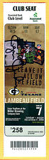 AARON RODGERS 295 YDS/2 TDS-12/7/08 PACKERS/TEXANS FULL TICKET-AUTOGRAPHED