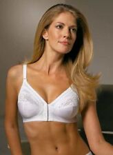 BNWOT TRIUMPH FRONT FASTENING NON WIRED WHITE CLAUDETTE BRA SOFT CUP SIZE 44D