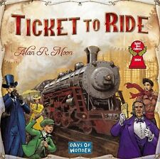 Days of Wonder Ticket To Ride BOARD GAME, 225 Colored Train Cars BOARD GAME