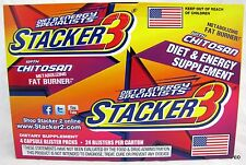 Stacker 3 Energy Boost Dietary Supplement Fat Burner 96 Pills Stackers Chitosan