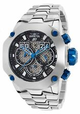 """@New Invicta 52mm S1 """"Twisted Metal"""" Chronograph Stainless Steel Bracelet 19430"""