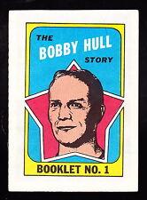 1971-72 TOPPS BOOKLETS #1 BOBBY HULL BLACK HAWKS