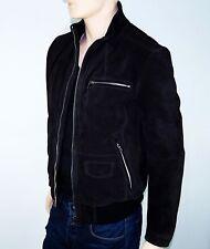 Nouveau-Hugo Boss Black-veste en cuir-taille 58 xxl-GR-ANATON-Daim Noir