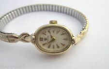 Vintage Omega 14K Gold Fill 17 Jewels Ladies Watch 493 Cal  for Parts or Repair