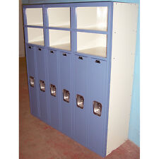 List Industries Superior 6 Door Lockers Metal Kids School Gym Work Storage Shelf