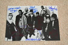 WU-TANG CLAN signed Autogramm 20x30 cm In Person  RZA , REAKWON, GZA , etc.