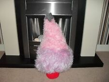 Hand knitted two tone fluffy knitted xmas advent tree