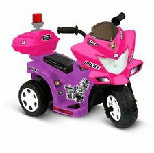 Electric Cars For Kids To Ride On Toys Police Riding Motorcycle Trike 6V Girls