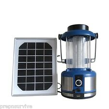 SOLAR POWERED 108 LED CLASSIC LANTERN USB CHARGING FOR MOBILE DEVICES 160 LUMENS