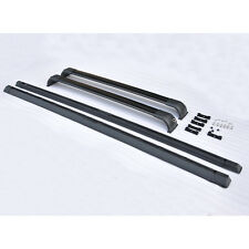 STO Black Roof Rack Rails Cross Bar Set For 2003-2012 Land Rover Range HSE