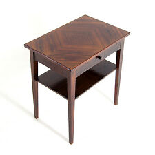 Retro Danish Modern Design Rosewood Hall Stand Coffee Side Lamp Table 50s 60s