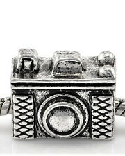 Camera Charm European Bead Compatible for Most European Snake Chain Bracelet