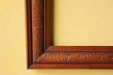 Antique Vintage Wooden Picture Frame. Large. Acorn Design.