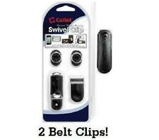 Universal Cell Phone / MP3 / GPS Swivel Belt Clip with Car Mount - 2 Belt Clips!