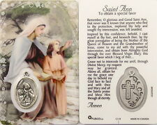 NEW LAMINATED ST. ANN  HOLY CARD W / MEDAL A PRAYER TO OBTAIN  A SPECIAL FAVOR