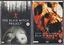 THE BLAIR WITCH PROJECT 1 & 2 BOOK OF SHADOWS Cult Found Footage Horror DVD *EXC