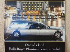 brochures Lymn Rolls Royce & Bentley Luxury Vehicle hire and Funeral Service