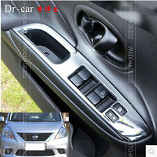 FIT FOR 12- NISSAN VERSA ALMERA CHROME INSIDE DOOR WINDOW SWITCH PANEL COVER
