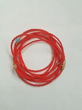 "Sexy African Single Waist Beads, Red; 29""inches long New FREE P&P"