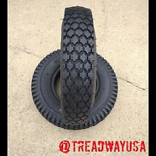 TWO New 4.10/3.50-4 Deestone Stud Tread Tires 4 Ply Non-Hwy Service  4.10-4