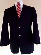 BURBERRY London BLACK Blazer 40 REGULAR Two BUTTON Wool METAL Buttons KNIGHT Man