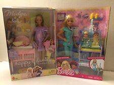 Happy Family Pregnant Barbie Midge & Barbie Baby Doctor New