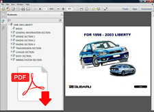 SUBARU LIBERTY 1998 1999 2000 2001 2002 2003 OEM REPAIR SERVICE SHOP FSM MANUAL
