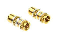 MOWA Presta French Road Mountain Bike Cycling Tire Valve Caps/2pcs/1g/Gold