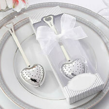 Heart Design Spoon Tea Infuser Filter Souvenir Bridal Shower Favor Gift Popular