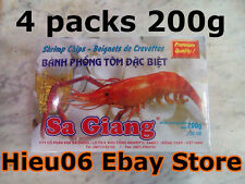 4 packs 200gr shrimp cracker - Beignets Crevettes phong tom dac biet Sa Giang