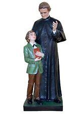 Statua San Giovanni Bosco cm 118 (con San Domenico) - In vetroresina