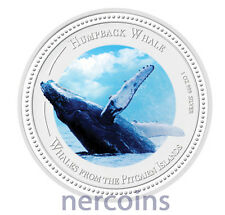 Pitcairn Islands 2009 Humpback Whale $2 1 Oz Pure Silver Coin Perfect