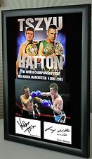 "Ricky Hatton  v Kostya Tszyu Boxing  Framed Canvas Print Signed ""Great Gift"""